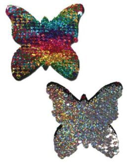 Pastease Color Changing Flip Sequins Butterfly – Rainbow O/S
