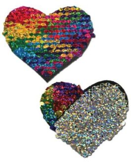 Pastease Color Changing Flip Sequins Heart – Rainbow O/S