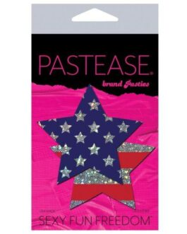 Pastease Glitter Patriotic Star – Red/Blue O/S