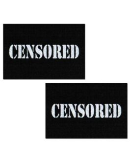 Pastease Censored Pastie – Black/White O/S