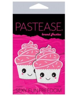 Pastease Cupcake Glittery Frosting Nipple Pastie – White O/S