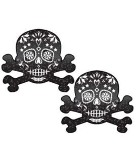 Pastease Day of the Dead Skull – Black/White O/S