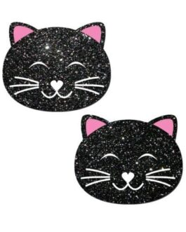 Pastease Glitter Black Cat – Black O/S