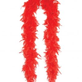 Lightweight Feather Boa – Red