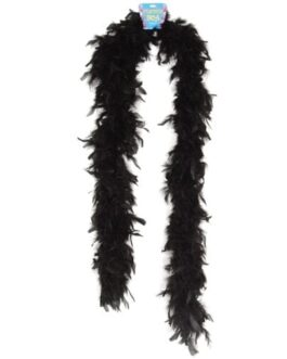 Lightweight Feather Boa – Black