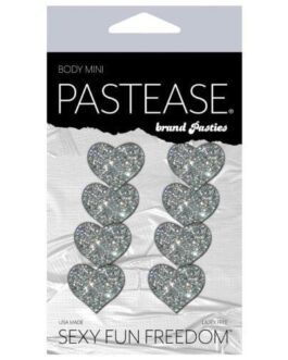 Pastease Mini Glitter Hearts – Silver Pack of 8