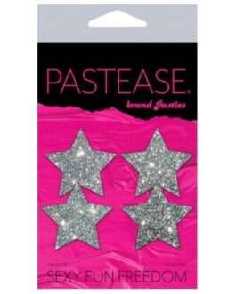 Pastease Petites Glitter Star – Silver O/S Pack of 2