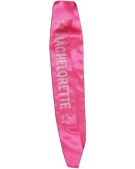 Bachelorette Sash w/Crystals – Hot Pink