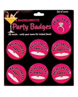 Bachelorette Party Badges – Pack of 7
