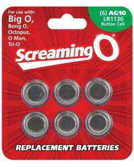 Screaming O AG10 Batteries – Sheet of 6 (BigO ,Octo, BongO,TriO,OMan,BangO)