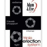 Adam & Eve Triple Erection System – Clear Pack of 3