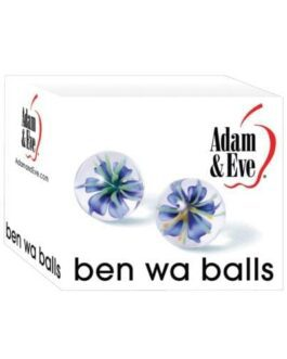 Adam & Eve Glass Ben Wa Balls – Clear