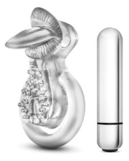 Blush Stay Hard Vibrating Tounge Ring – 10 Function Clear