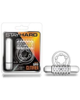 Blush Stay Hard Super Clitifier Cock Ring – Clear