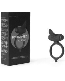Bcharmed Classic Vibrating Cock Ring – Black