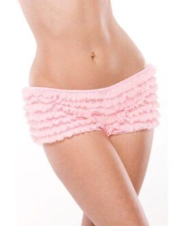 Ruffle Shorts w/Back Bow Detail Pink OS/XL
