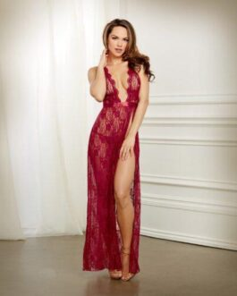 Lace Gown & G-String Garnet MD