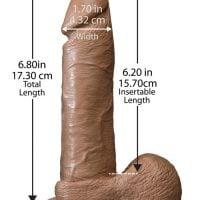 "6"" Realistic Cock w/Balls – Brown"