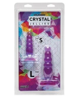 Crystal Jellies Anal Delight Trainer Kit – Purple