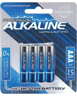 Doc Johnson Alkaline Batteries – AAA 4 Pack