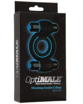 OptiMale Vibrating Double C Ring – Black