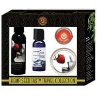 Earthly Body Hemp Seed Tasty Travel Collection – Strawberry