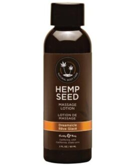 Earthly Body Hemp Seed Massage Lotion – 2 oz Dreamsicle