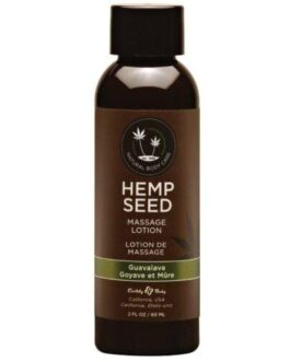 Earthly Body Hemp Seed Massage Lotion – 2 oz Guavalava