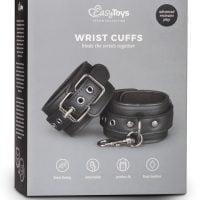 Easy Toys Faux Leather Handcuffs – Black