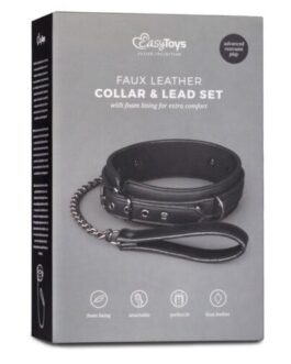 Easy Toys Fetish Collar w/Leash – Black