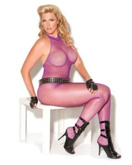 Vivace Fishnet Bodystocking Purple QN