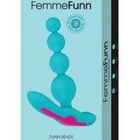 Femme Funn Beads Vibrating Anal Beads – Turquoise