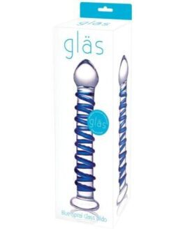 Glas Spiral Glass Dildo – Blue