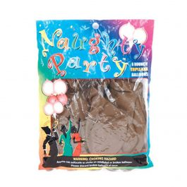 Naughty Party Boobie Balloons – Brown Pack of 6