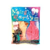 Naughty Party Boobie  Balloons – Asst. Colors Pack of 6