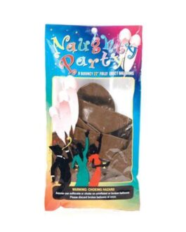 "Naughty Party 22"" Penis Balloons – Brown Pack of 8"
