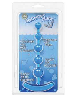 Anchor's Away Beaded Anal Plug  – Blue