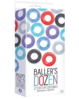 The 9's Baller's Dozen 12pc Cockring Set – Asst. Colors