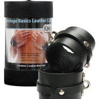 KinkLab Leather Wrist Cuffs – Black