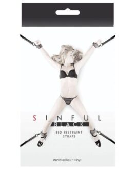 Sinful Bed Restraint Straps – Black