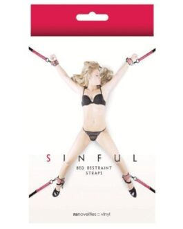 Sinful Bed Restraint Straps – Pink