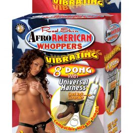 """Afro American Whoppers 8"""" Dong w/Universal Harness"""