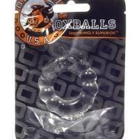 Oxballs Atomic Jock 6-Pack Cockring – Clear