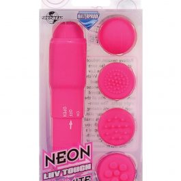 Neon Luv Touch Mini Mite Waterproof – 4 Interchangeable Heads Pink