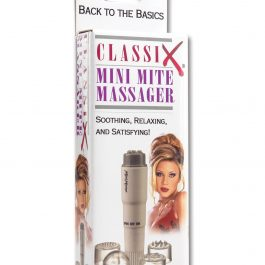 Classix Mini Mite Massager w/4 Heads – White