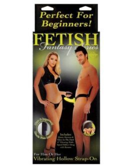 Fetish Fantasy Series for Him or Her Vibrating Hollow Strap On – Glow in the Dark