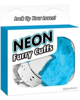 Neon Luv Touch Furry Cuffs – Blue
