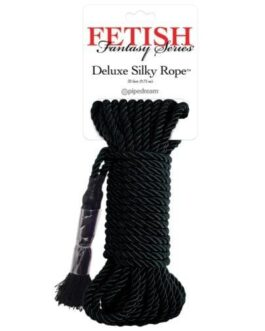 Fetish Fantasy Series Deluxe Silk Rope – Black