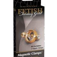 Fetish Fantasy Gold Magnetic Nipple Clamps – Gold