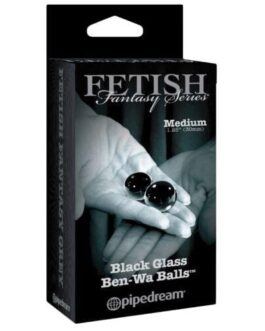 Fetish Fantasy Limited Edition Black Glass Ben-Wa Balls – Medium